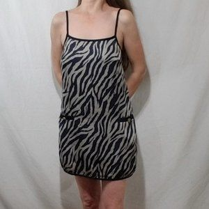Collective Concepts animal print mini slip dress